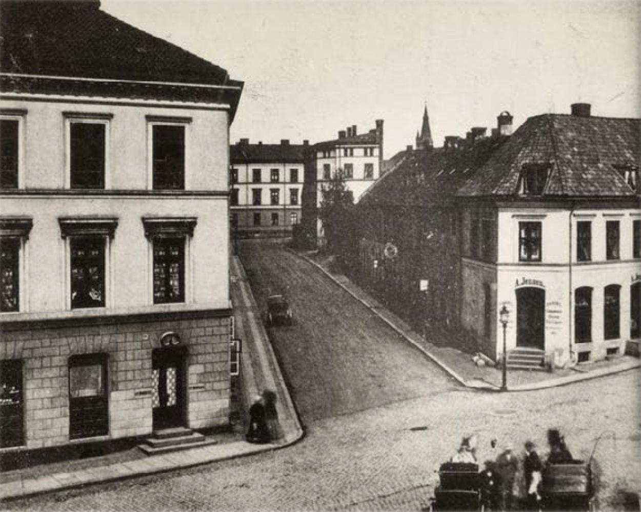 Historisk bilde av Lille Grensen 7.